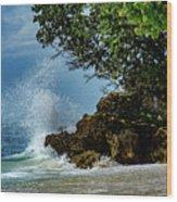 Wave Crashing Punta Cana Wood Print