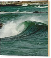 Wave Curl Wood Print