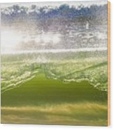 Wave Glass  Wood Print