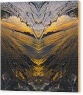 Wave Heart Wood Print
