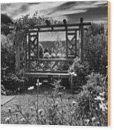 Wave Hill Garden Wood Print