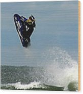 Wave Jumper Wood Print