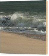 Wave Of Light - Jersey Shore Wood Print