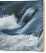 Wave Of The Veil On The River Wood Print