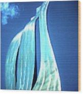 Wave Of Weiden Wood Print