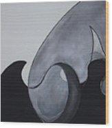 Wave Round Wood Print by Carol Reed