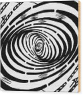 Wave Swirl Maze Wood Print