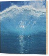 Wave Tube Wood Print
