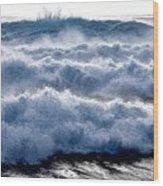 Wave Upon Wave Upon Wave Wood Print