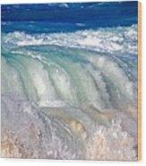 Wave Waterfall, Sunset Beach, Hawai'i Wood Print