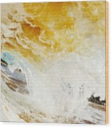 Wave Whitewash Wood Print