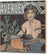 Waverley Cycles - Paris 1898 Wood Print