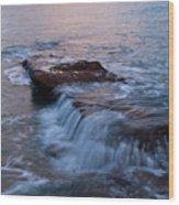 Waves 01 Wood Print