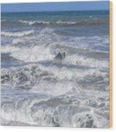 Waves 1 Wood Print