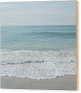 Waves And Assateague Beach Wood Print