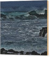 Waves And Wind Wood Print