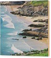 Waves Coming Ashore At Sybil Point Ireland  # 1 Wood Print