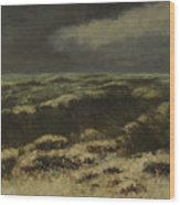 waves by Gustave Courbet Wood Print