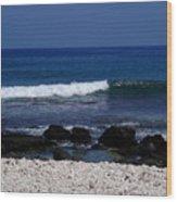 Waves In Paradise Wood Print