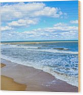 Waves Lapping On Beach 3 Wood Print