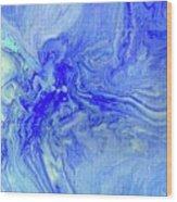 Waves Of Blue Wood Print