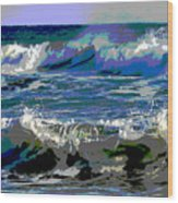 Waves Of Delight Wood Print