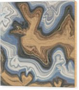 Waves Of Heart Wood Print