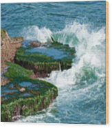 Waves Of La Jolla Wood Print