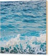 Waves Of Nice France Wood Print
