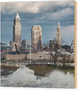 Waves On Cleveland Wood Print