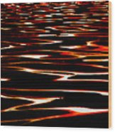 Waves On Fire Abstract Wood Print by David Patterson