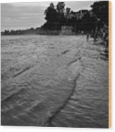 Waves On The Ganges Wood Print