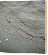 Waves On The Ice Wood Print