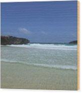 Waves Rolling Ashore On The Beach Of Boca Keto Wood Print