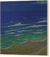 Waves Wood Print by Ron Sylvia