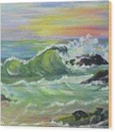 Waves Wood Print by Saga Sabin