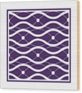 Waves With Border In Purple Wood Print