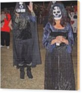 Waving Ghoul Cinematographer Halloween Casa Grande Arizona 2004 Wood Print