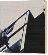 Waving Window Washer Wood Print