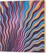 Wavy Fringe Wood Print