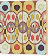 Wavy Geometric Abstract Wood Print