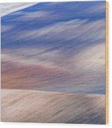 Wavy Hills Abstract. Moravian Tuscany Wood Print