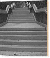 Wavy Stairs Wood Print