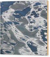 wavy Water  Wood Print