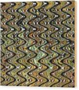 Wavy Waves Wood Print