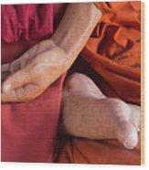 Wax Monk Wood Print