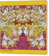 Waxleaf Privet Blooms In Autumn Tones Abstract Wood Print