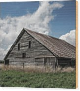 Way Of Life - Weathered Barn In Kansas Wood Print