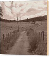 Way To Home Wood Print