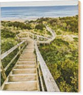 Way To Neck Beach Wood Print